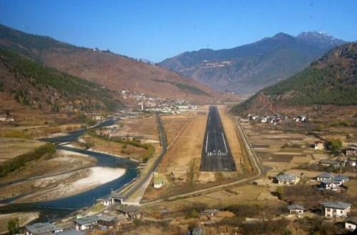 Аэропорт в провинции Паро (Бутан). Фото
