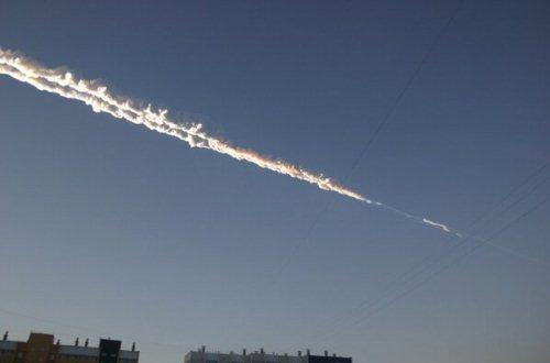 Нечто протаранило челябинский метеорит. Фото